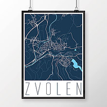 Grafika - ZVOLEN, moderný, tmavomodrý - 7704290_