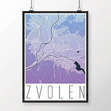Grafika - ZVOLEN, moderný, modro-fialový - 7704292_