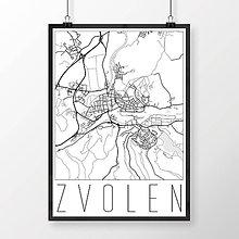 Grafika - ZVOLEN, moderný, biely - 7704297_
