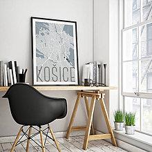 Grafika - KOŠICE, elegantné, svetlomodré (A3) - 7704510_