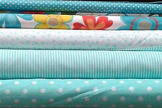 Textil - Bavlnené látky - tyrkys - 7703323_