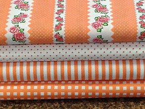 Textil - Bavlnené látky - pomarančové - 7703438_