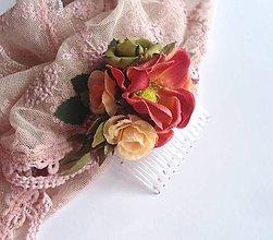 Ozdoby do vlasov - Kvetinový hrebienok - 7702674_