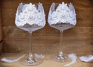 Nádoby - Veľké svadobné poháre - 7703923_