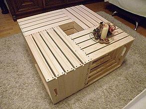 Nábytok - Konferenčný debničkový stolík - 7704689_