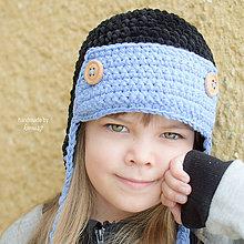 Detské čiapky - Zimná ušianka ... \