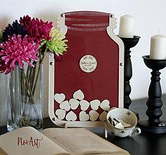 Dekorácie - Svadobná kniha hostí - POHÁR 1 - 7705982_