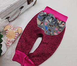 Detské oblečenie - Psíkovia...hřejivé kalhoty - 7706830_