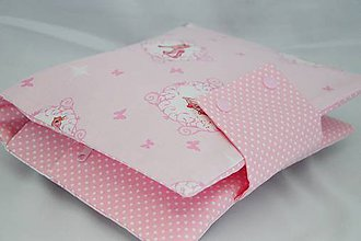 Detské doplnky - Organizér na plienky ružový s vílami a jednorožcami - 7705741_