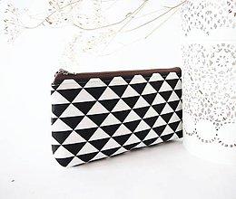 Taštičky - Kozmetická taška stredná - čiernobiela - 7707834_
