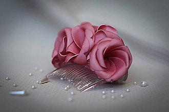 Ozdoby do vlasov - Ružový penový hrebienok - 7708252_