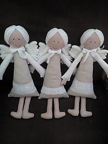 Hračky - anjeliky maznáčiky z režnej látky - 7708828_