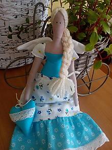 Bábiky - Tilda v tyrkysovej - 7708938_