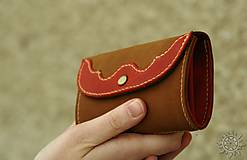 Peňaženky - Malá kožená peňaženka III. - 7708990_
