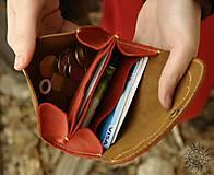Peňaženky - Malá kožená peňaženka III. - 7708994_