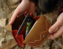 Peňaženky - Malá kožená peňaženka III. - 7708995_