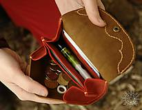Peňaženky - Malá kožená peňaženka III. - 7708996_