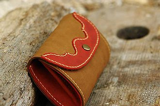 Peňaženky - Malá kožená peňaženka - 7708991_