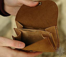 Peňaženky - Malá kožená peňaženka III - 7709100_
