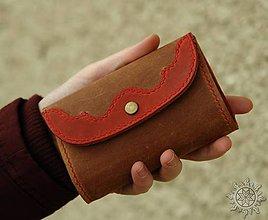 Peňaženky - Malá kožená peňaženka III. - 7709102_