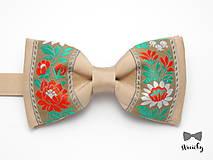 Doplnky - Folkový motýlik Krasko - 7709038_