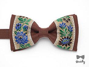 Doplnky - Folkový motýlik Chalúpka III - 7708988_