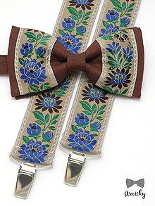 Doplnky - Folkový set traky a motýlik Chalúpka III - 7709098_