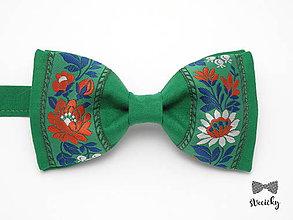 Doplnky - Folkový motýlik Smrek - 7709161_