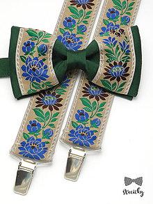 Doplnky - Folkový set traky a motýlik Chalúpka II - 7709172_