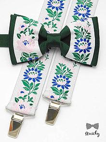 Doplnky - Folkový set traky a motýlik Figuli III - 7709394_