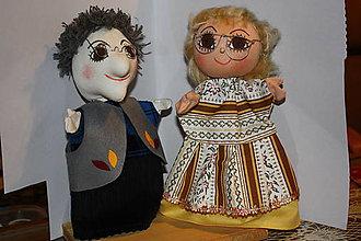 Bábiky - Maňušky Babička a deduško. - 7705641_