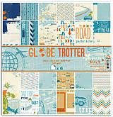 Papier - PIL46_1 Obojstranný papier č.1  30,5 x 30,5 cm 180g/m² CESTOVATEĽ - 7705712_