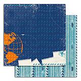 Papier - PIL46_1 Obojstranný papier č.1  30,5 x 30,5 cm 180g/m² CESTOVATEĽ - 7705713_