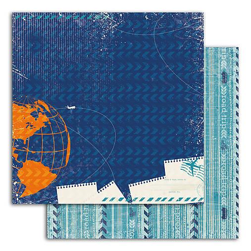 PIL46_1 Obojstranný papier č.1  30,5 x 30,5 cm 180g/m² CESTOVATEĽ