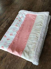 Textil - Detská deka do kočíka srdiečková 60x84 - 7706423_