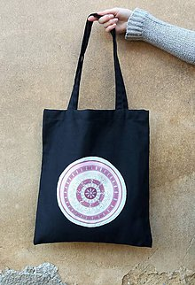 Nákupné tašky - TAŠKA S RŮŽOVOU MANDALOU - 7705571_