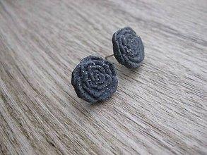 Náušnice - Napichovačky fimo rôzny vzor (Kamenné ruže - napichovačky č.687) - 7706289_