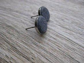 Náušnice - Napichovačky fimo rôzny vzor (Kamienky sivé - napichovačky 13mm, č.688) - 7706350_