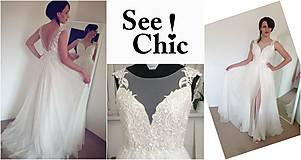 Šaty - Svadobné šaty navrhované a šité na mieru - 7709631_