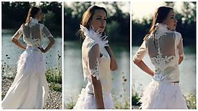 Šaty - Svadobné šaty navrhované a šité na mieru - 7709700_