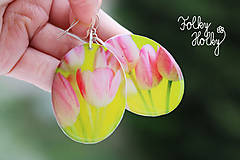 Náušnice - Tulipány - 7706679_