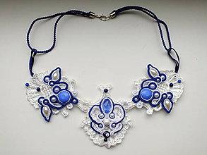Náhrdelníky - soutache čipkový folk náhrdelník - 7708823_