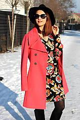 Šaty - Úpletové šaty kvetované - 7708887_