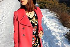 Šaty - Úpletové šaty kvetované - 7708888_
