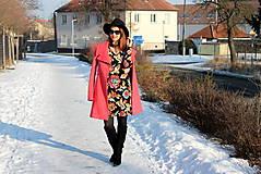 Šaty - Úpletové šaty kvetované - 7708890_
