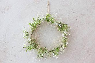 Dekorácie - Venček jarné snenie zelená lúka - 7706195_