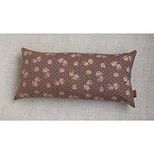 Úžitkový textil - FILKI šupkový vankúš 40 cm (ružičky na hnedej) - 7705588_