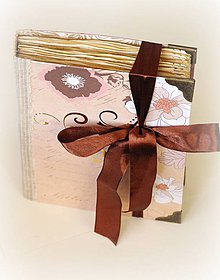 Papiernictvo - Vintage zápisník  ručne viazaný - 7707099_