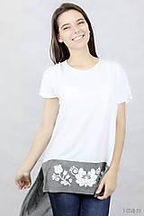 Tričká - Dámske tričko BAMBUS 06 potlač FOLK - 7708698_