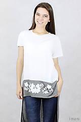 Tričká - Dámske tričko BAMBUS 06 potlač FOLK - 7708700_